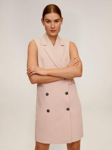 שמלת מיני בלייזר עם כפתורים