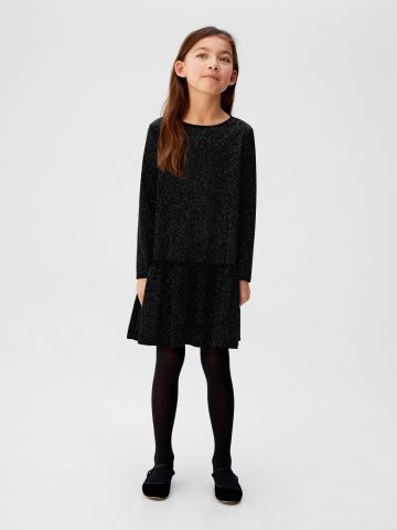שמלת קטיפה גליטר עם מלמלה