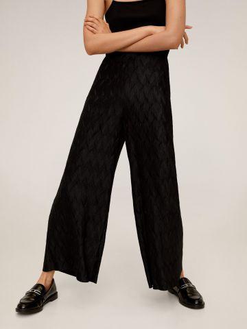 מכנסיים מתרחבים בדוגמת זיגזג