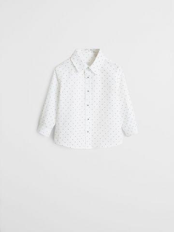 חולצה מכופתרת בהדפס איקסים / 9M-4Y