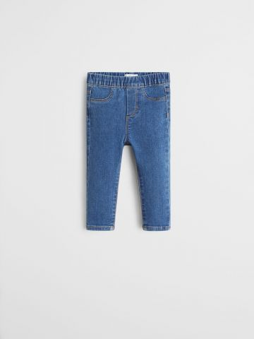 ג'ינס סטרץ' עם גומי במותן / 9M-4Y