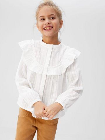 חולצה מכופתרת עם מלמלה