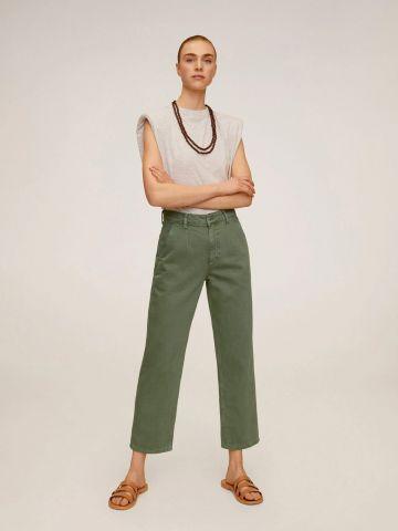 מכנסי צ'ינו בסגנון קרופ