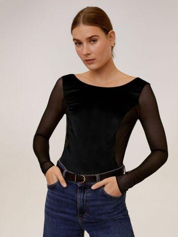 בגד גוף רשת עם פתח עמוק בגב של MANGO