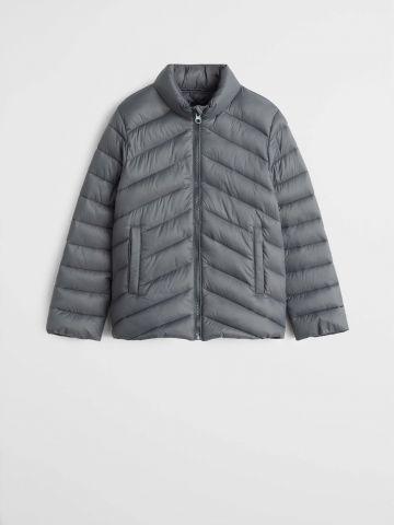 מעיל קווילט עם צווארון גבוה / בנות
