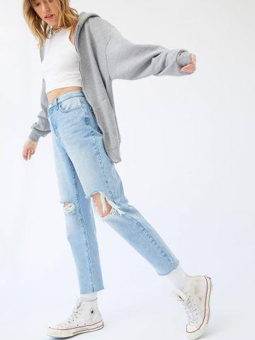 ג'ינס Slim Straight עם קרעים BDG