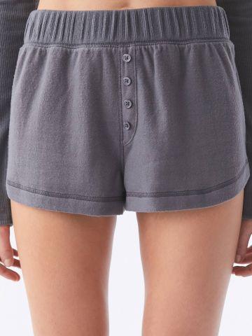 מכנסי פיג'מה קצרים עם כפתורים Out From Under