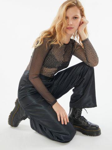 חולצת רשת בדוגמת פאצ'ים UO