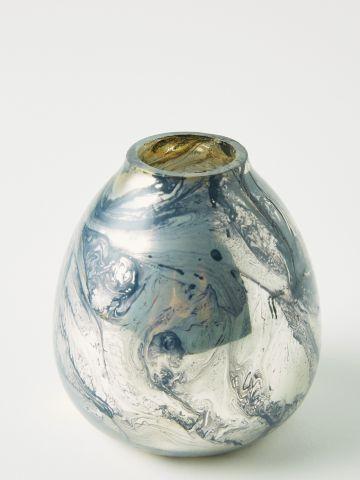 אגרטל זכוכית בעיטורים אבסטרקטיים