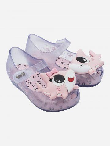 נעלי בובה עם בובת כריש / בייבי בנות