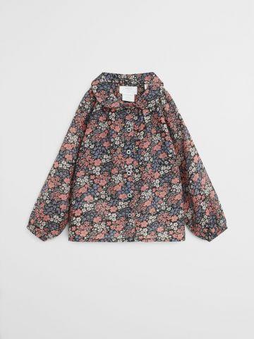 שמלה מכופתרת בהדפס פרחים / 9M-4Y