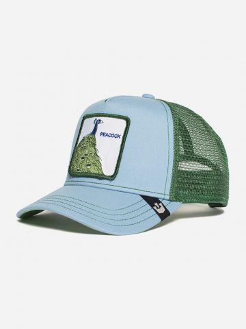 כובע מצחיה עם פאץ' טווס / נשים