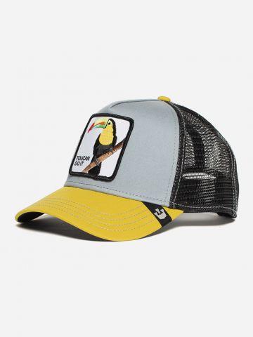 כובע מצחיה קולור בלוק עם פאץ' טוקן / גברים