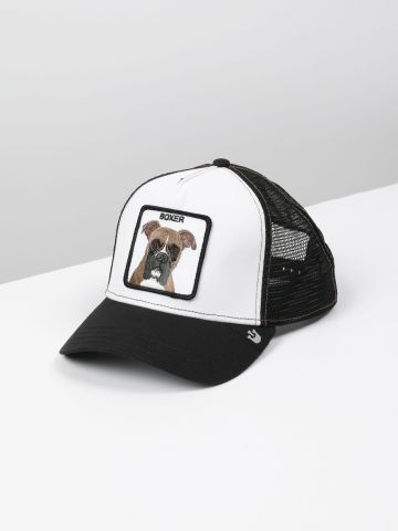 כובע מצחייה עם פאץ' כלב Boxer / גברים