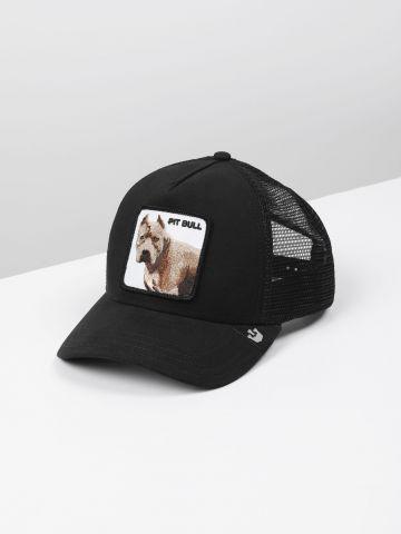 כובע מצחייה עם פאץ' כלב  Pit Bull / גברים