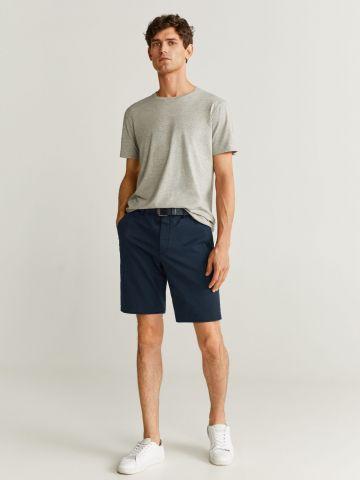 מכנסי ברמודה חלקים