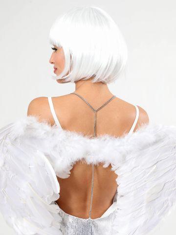 כנפי נוצות White Angel / תחפושות לפורים