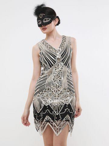 שמלת מיני ברקמת פאייטים / תחפושת לפורים