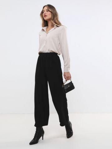 מכנסיים ארוכים בגזרה רחבה