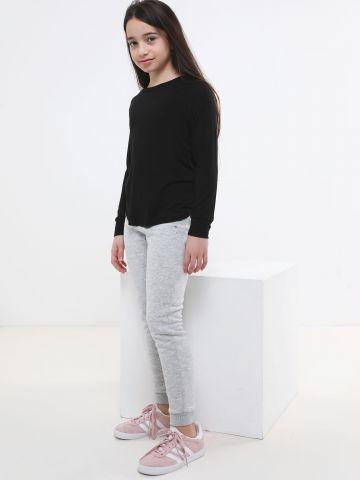 מכנסי טרנינג עם הדפס כוכבים מטאלי