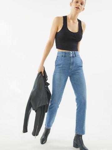 ג'ינס בגזרה ישרה וגבוהה BDG Veruca