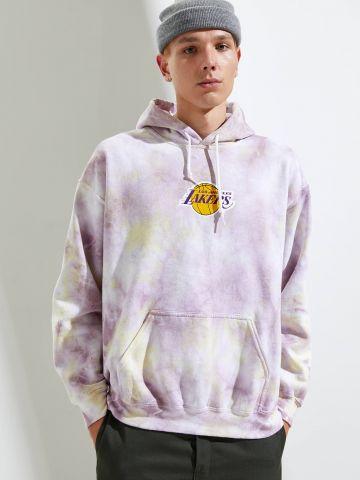 סווטשירט טאי דאי עם הדפס Los Angeles Lakers