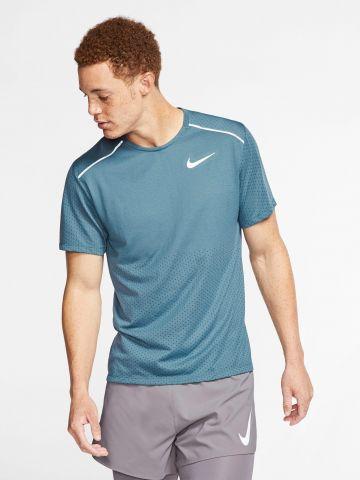 חולצת ריצה עם לוגו Rise 365