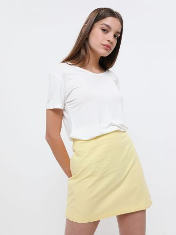 חצאית מיני פשתן