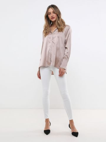 ג'ינס סקיני סטרץ' בגזרה גבוהה