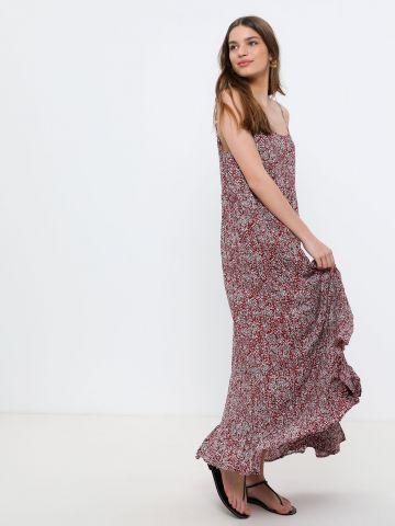שמלת מקסי קומות בהדפס פרחים