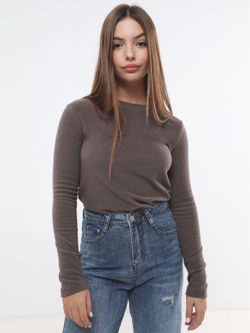 חולצת פליז עם שרוולים ארוכים