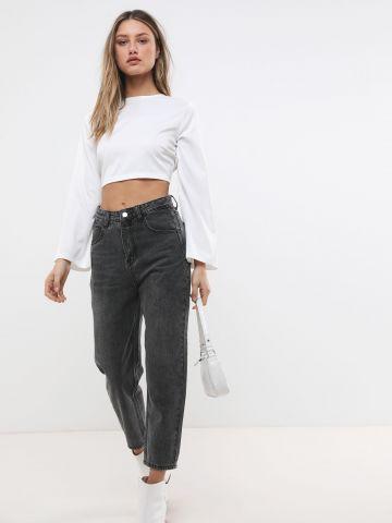 ג'ינס ווש בגזרת Mom