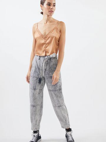 ג'ינס אסיד ווש עם חגורת קשירה BDG