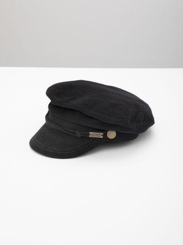 כובע קסקט קורדרוי עם לוגו מטאלי / נשים