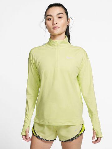 חולצת ריצה ניאון Dry-Fit עם רוכסן חצי
