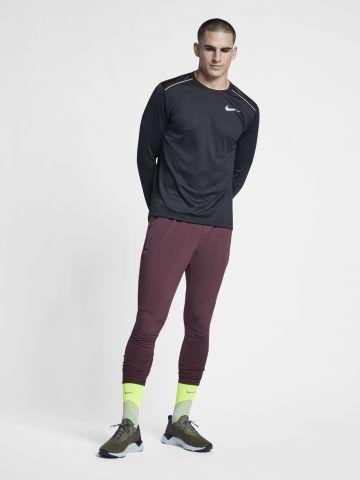 חולצת ריצה Dry-Fit עם לוגו מחזיר אור