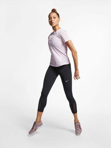 טייץ אימון קרופ עם פאנלים רשת Nike Pro של NIKE