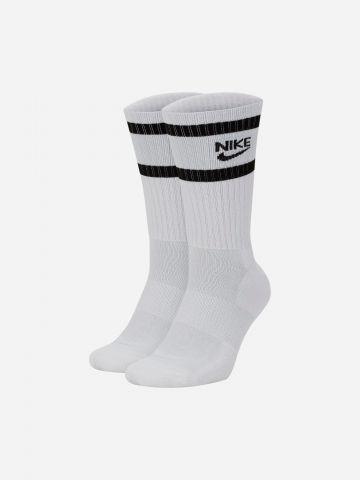גרביים גבוהים ריב עם לוגו Nike Heritage / גברים