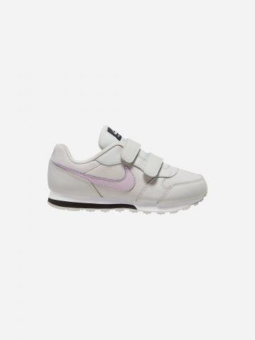 נעלי ריצה עם סקוצ'ים ולוגו / בנות