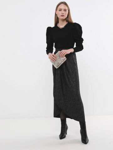 חצאית מקסי גליטר עם פאייטים