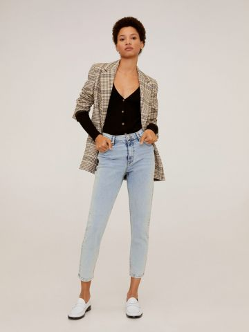 ג'ינס בגזרת Mom אסיד ווש