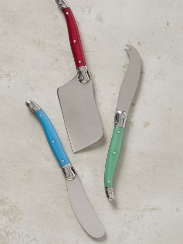 סט 3 סכיני גבינה עם ידית צבעונית