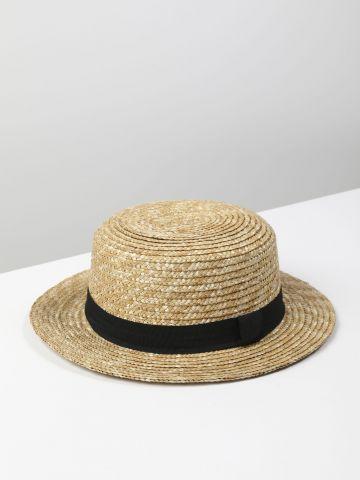 כובע קש עם סרט / נשים