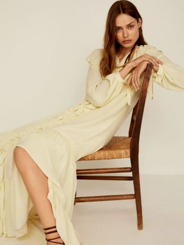 שמלת מקסי בעיטור מלמלה