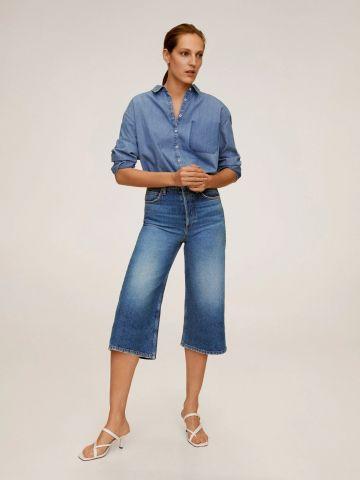 ג'ינס ברמודה בגזרה גבוהה של MANGO