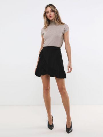 חצאית קורדרוי מיני עם מלמלה