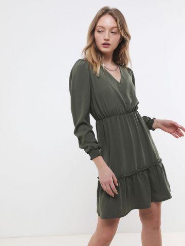 שמלת מיני עם פפלום