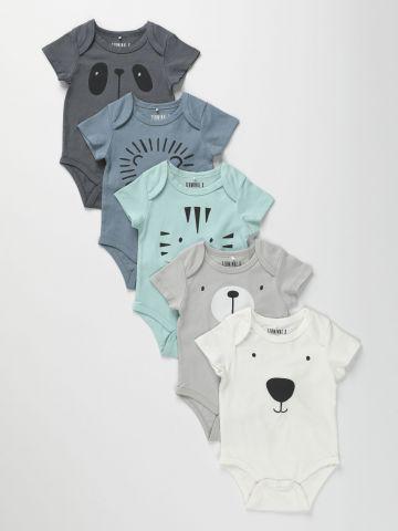 מארז 5 בגדי גוף בהדפסים שונים / 0-2Y