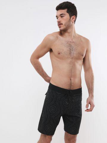 מכנסי בגד ים בהדפס אבסטרקטי