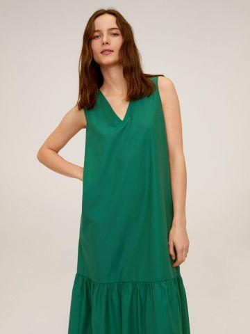 שמלת מקסי עם סיומת פפלום